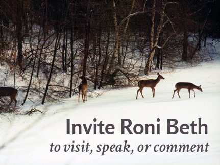 Invite Roni Beth to visit, speak or comment